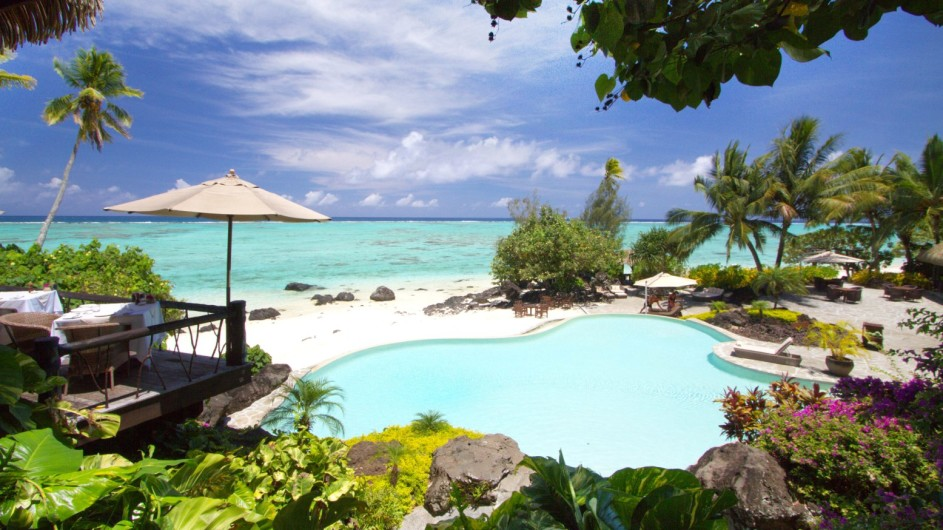 Cook Inseln Pacific Resort Aitutaki Pool