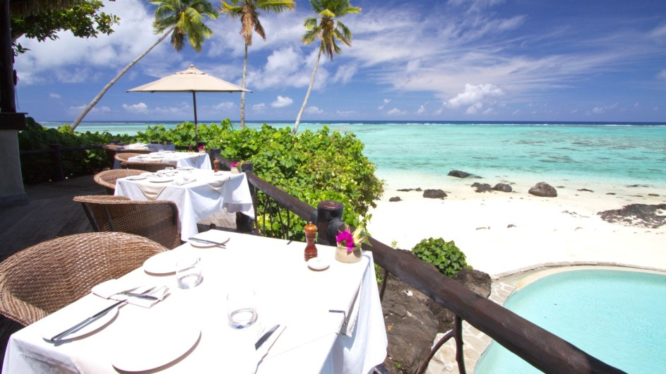 Cook Inseln Pacific Resort Aitutaki Rapae Restaurant