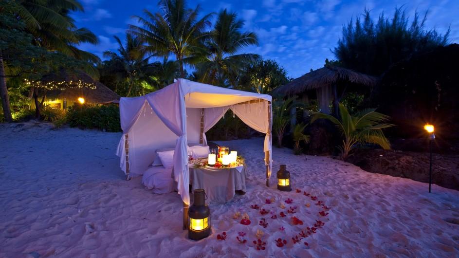 Cook Inseln Pacific Resort Aitutaki romantisches Dinner