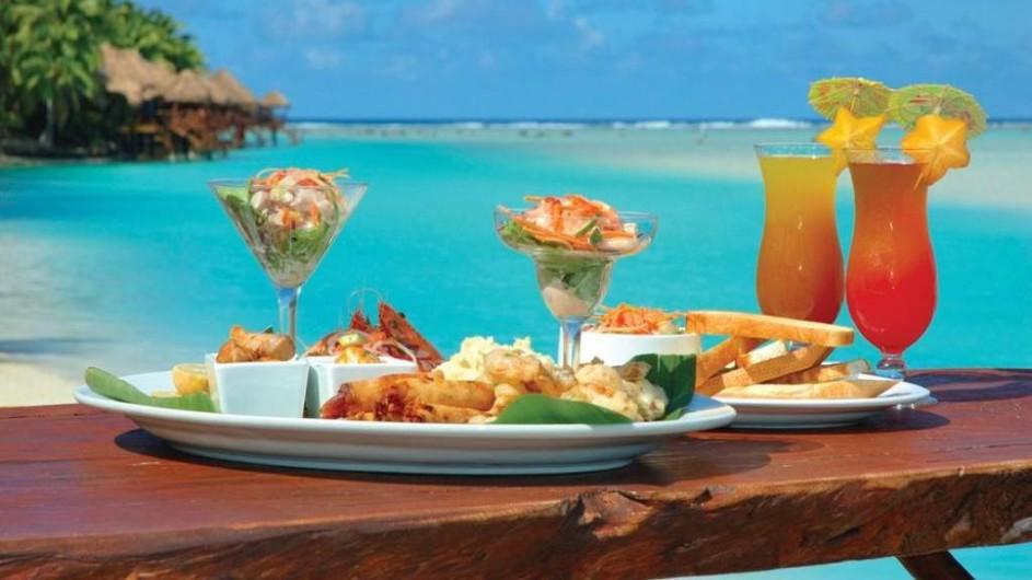 Cook Inseln Aitutaki Lagoon Resort Seafood