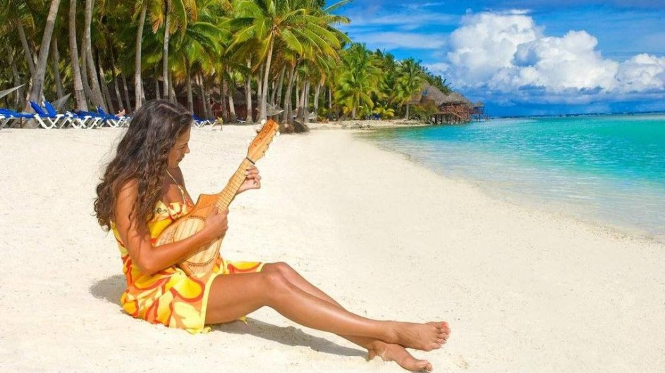 Cook Inseln Aitutaki Lagoon Resort Strand
