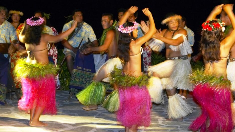 Cook Inseln Pacific Resort Aitutaki Tanzvorführung
