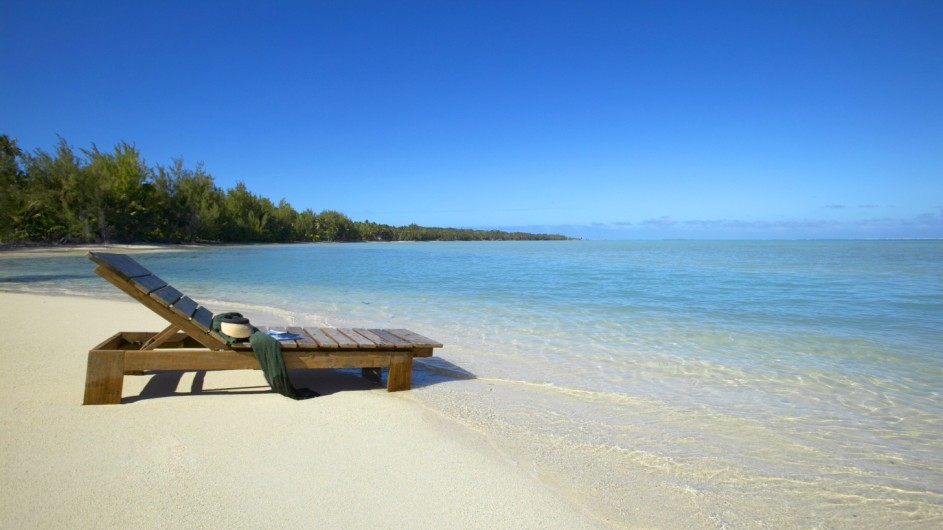 Cook Inseln Pacific Resort Aitutaki am Strand