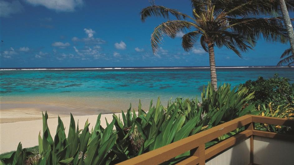 Cook Inseln Rarotonga Palm Grove Resort Aussicht aufs Meer