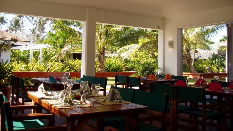Cook Inseln Rarotonga Palm Grove Resort Restaurant