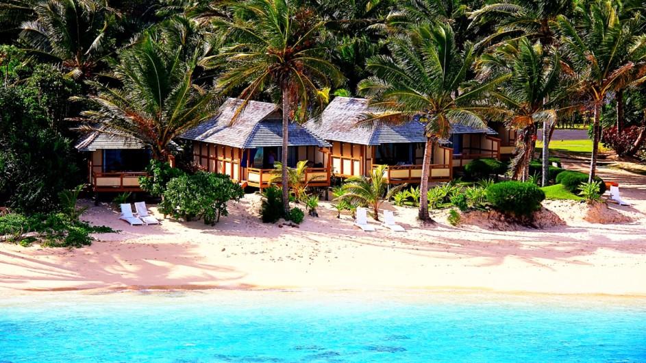 Cook Inseln Rarotonga Palm Grove Resort Strand