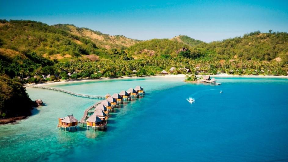 Fiji Inseln Likuliku Lagoon Resort Ansicht