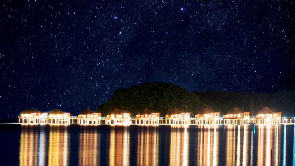 Fiji Inseln Likuliku Lagoon Resort unter den Sternen