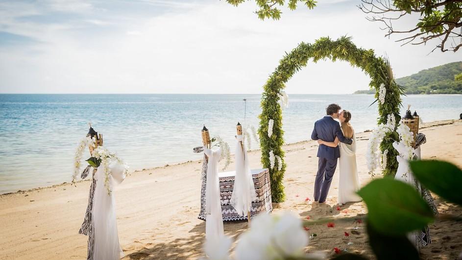 Fiji Malolo Island Resort Hochzeitspaar
