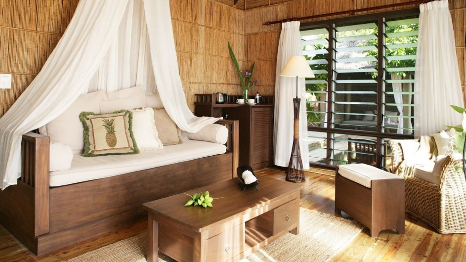 Fiji Inseln Taveuni Matangi Island Resort Baumhaus innen