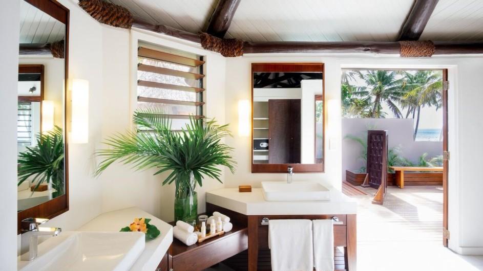 Fiji Inseln Yasawa Island Resort Deluxe Strandbungalow Bad
