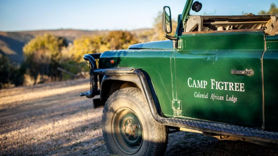 Südafrika Addo Nationalpark Camp Figtree Safarifahrzeuge