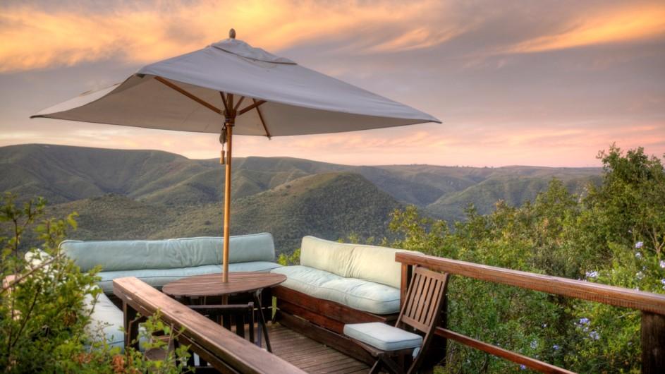 Südafrika Addo Nationalpark Camp Figtree Terrasse