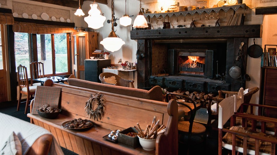 Südafrika Drakensberge Cleopatra Mountain Farmhaus Lounge