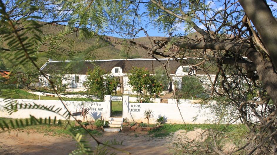 Südafrika Cederberge Enjo Nature Farm Eingang Haupthaus