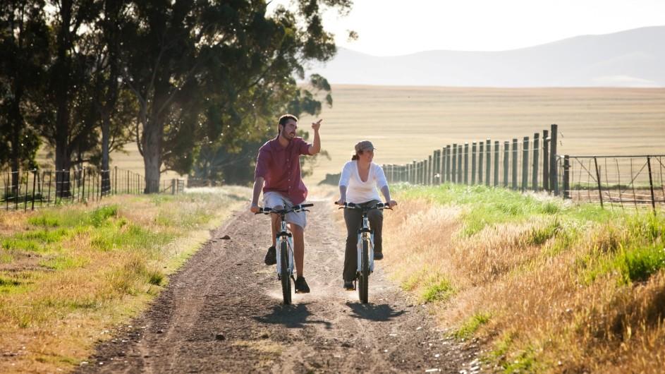Südafrika Hermon Bartholomeus Klip Farmhaus Fahrradtour