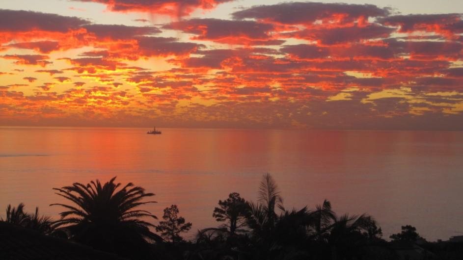 Südafrika Kapstadt Ambiente Gueshouse Ausblick Sonnenuntergang