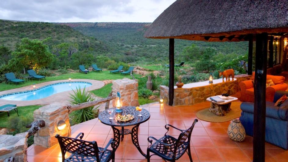 Südafrika Ohrigstad Iketla Lodge Terrasse