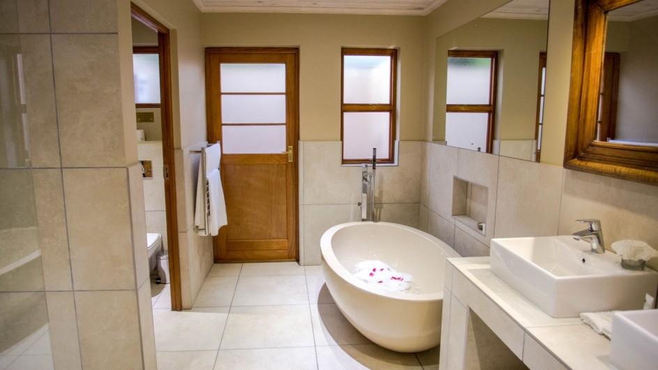 Südafrika Oudtshoorn De Zeekoe Fästefarm Badezimmer Badezimmer