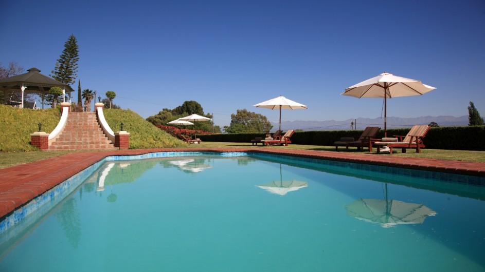Südafrika Oudtshoorn La PLume Gästehaus Pool