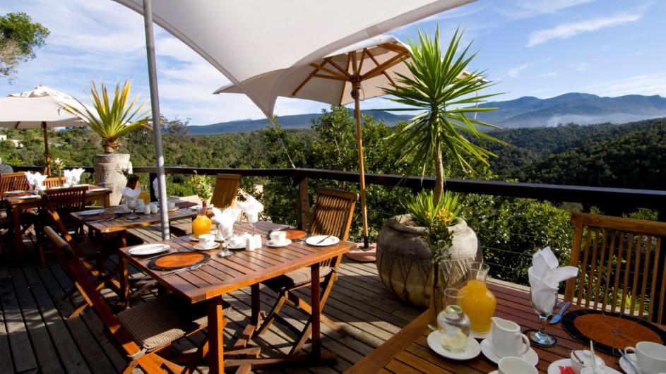 Südafrika Plettenberg BAy Hog Hollow Country Lodge Frühstück