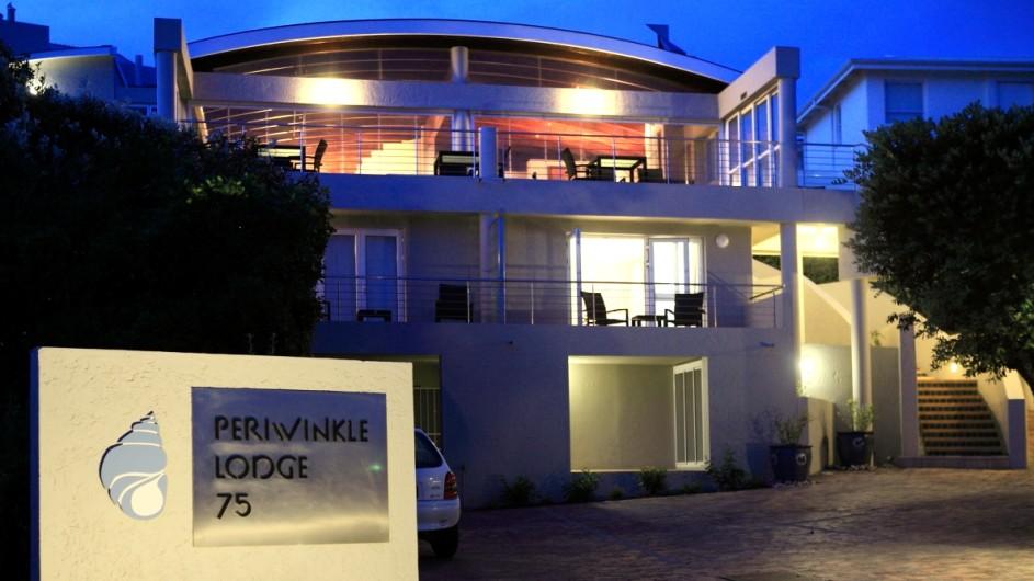 Südafrika Plettenberg Bay Lodge Eingang abends
