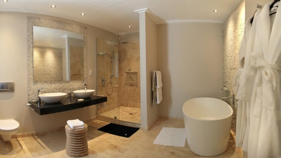 Südafrika Plettenberg Bay Lodge Badezimmer