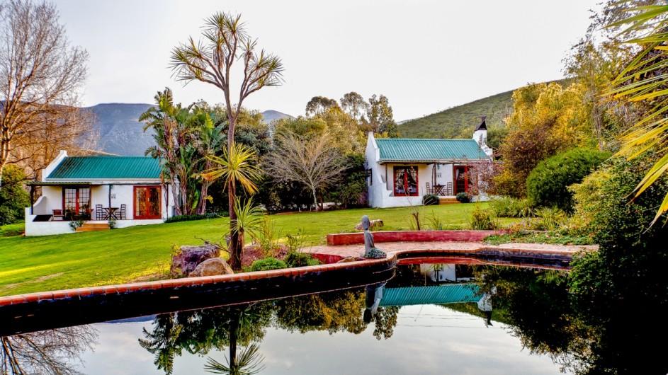 Südafrika Weinland Fraai Uiticht Gästefarm Luxuszimmer Außenansicht