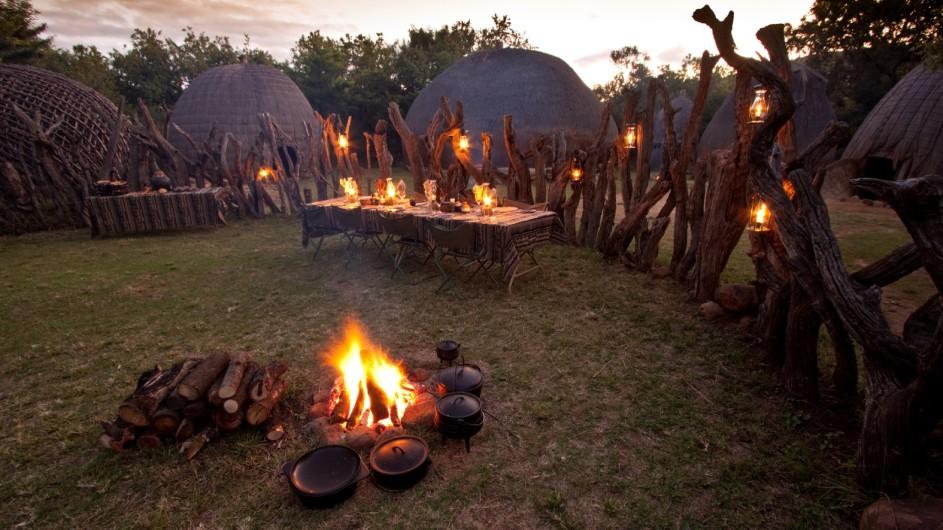 Südafrika Rorke´s Drift Isibindi Zulu Lodge Boma