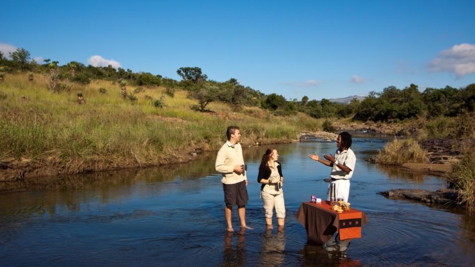 Südafrika Rorke´s Drift Isibindi Zulu Lodge Morgenkaffee
