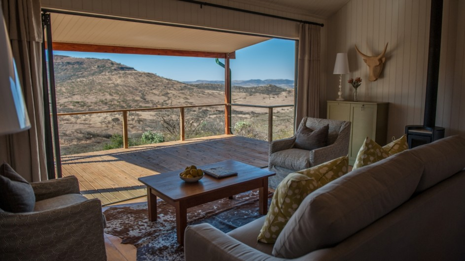 Südafrika Drakensberge Three Tree Hill Lodge Churchills Cottage Wohnraum