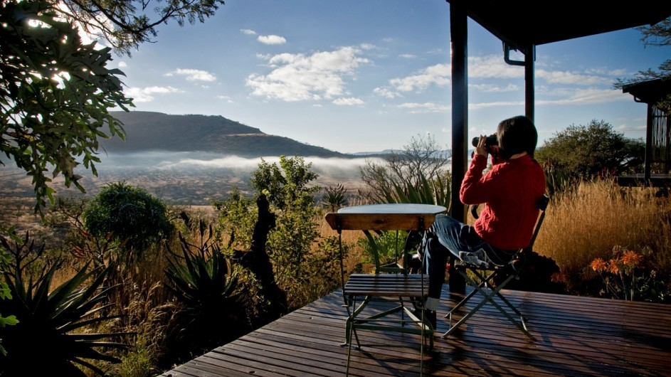 Südafrika Drakensberge Three Tree Hill Lodge Cottage Terrasse