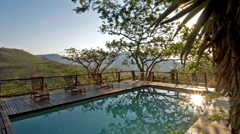 Südafrika Drakensberge Three Tree Hill Lodge Pool