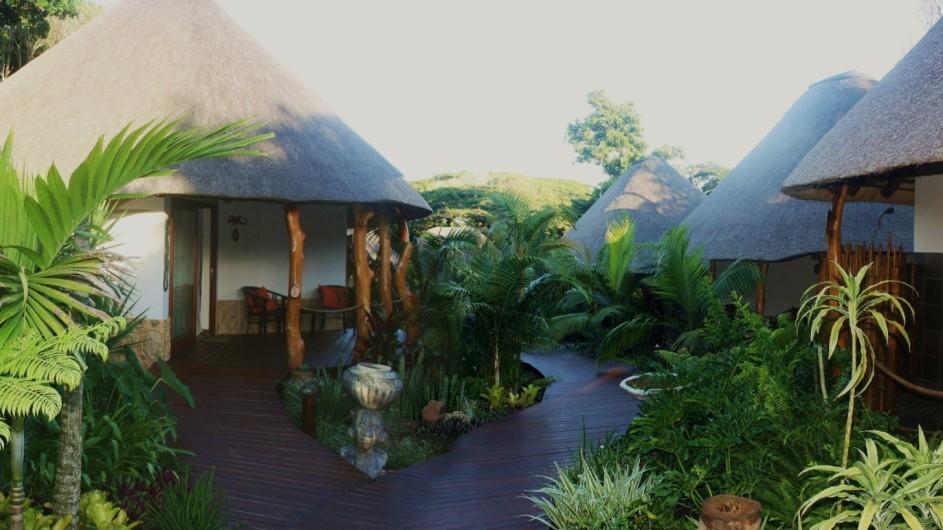 Südafrika St. Lucia Lodge Afrique Zimmer außen