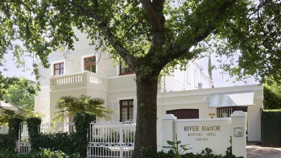 Südafrika Weinland Stellenbosch River Manor Boutique Hotel Außenansicht