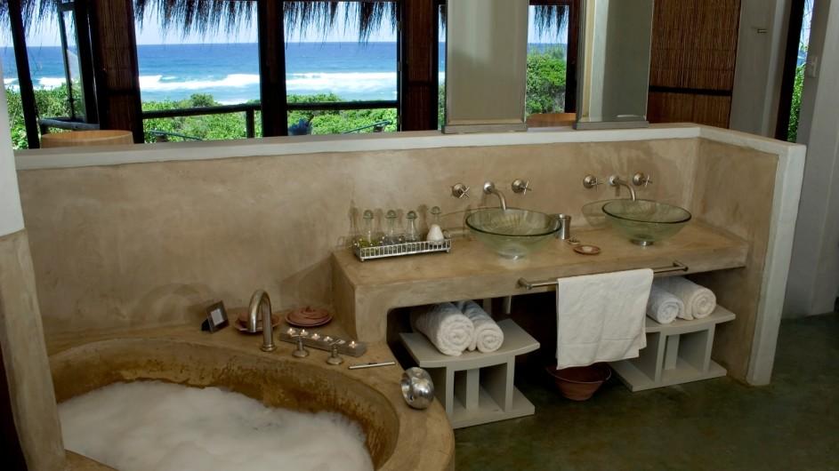 Südafrika Thonga Beach Lodge Badezimmer