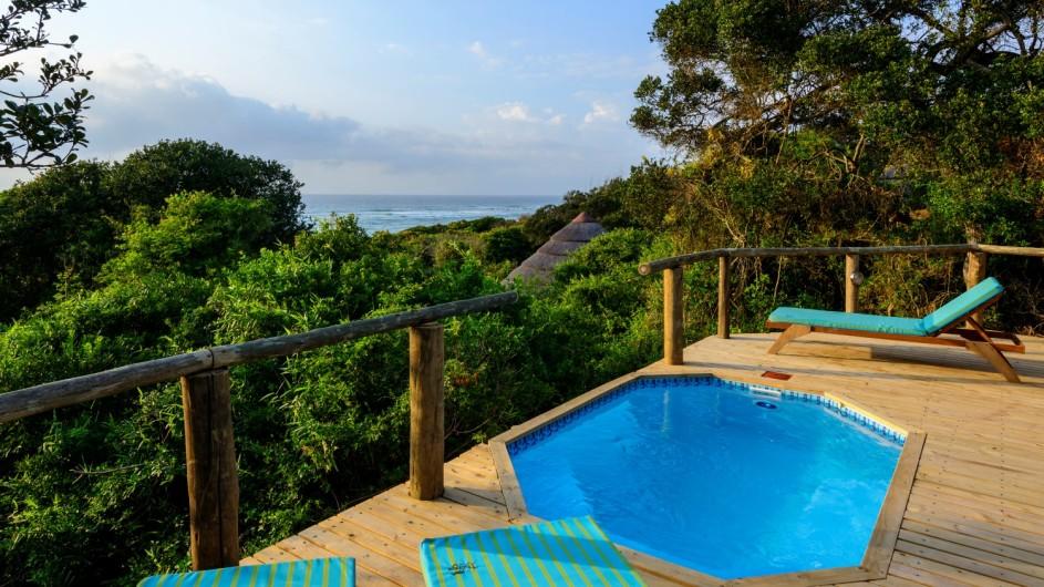 Südafrika Thonga Beach Lodge Meerblickzimmer mit Pool