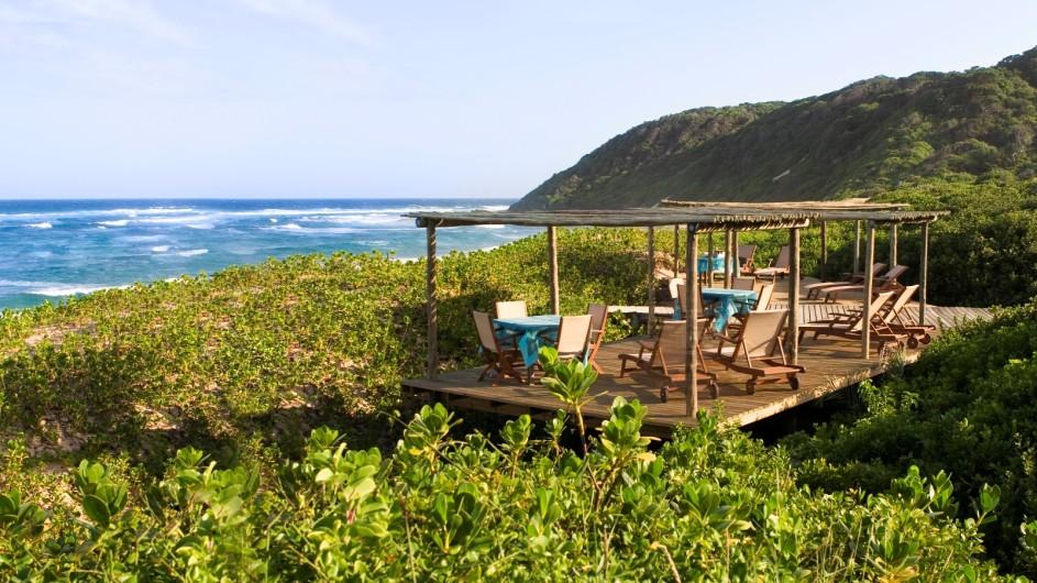 Südafrika Thonga Beach Lodge Terrasse