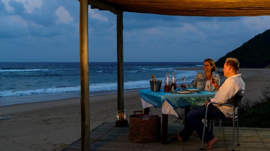 Südafrika Thonga Beach Lodge privates Dinner