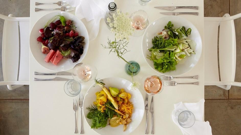 Südafrika Weinland Babylonstoren Farmhotel Salat zum Lunch