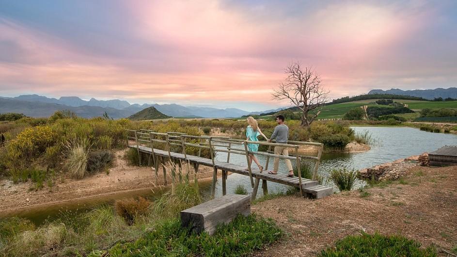 Südafrika Weinland Babylonstoren Farmhotel Spaziergang über die Farm