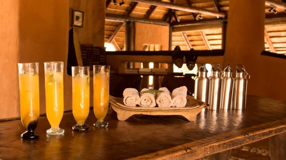 Südafrika Makalali Game Reserve Garonga Safari Camp Willkommensdrink