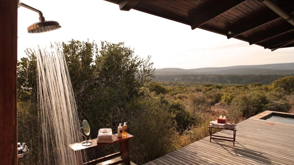 Südafrika Kwandwe Private Game Reserve Kwandwe Ecca Lodge Außendusche
