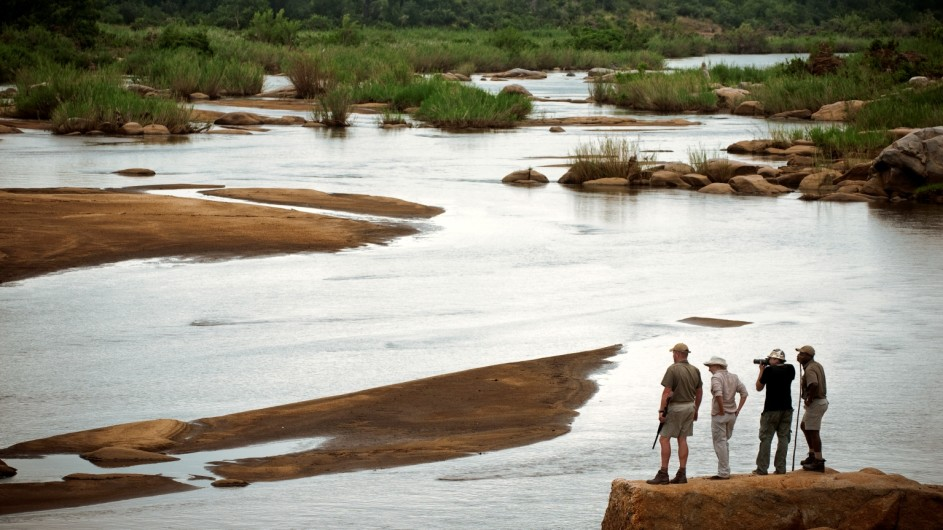 Südafrika Sabi Sand Game Reserve Lion Sands Fußpirsch