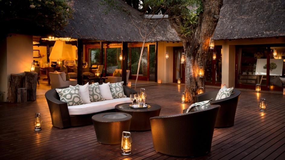 Südafrika Sabi Sand Game Reserve Lion Sands River Lodge Lounge