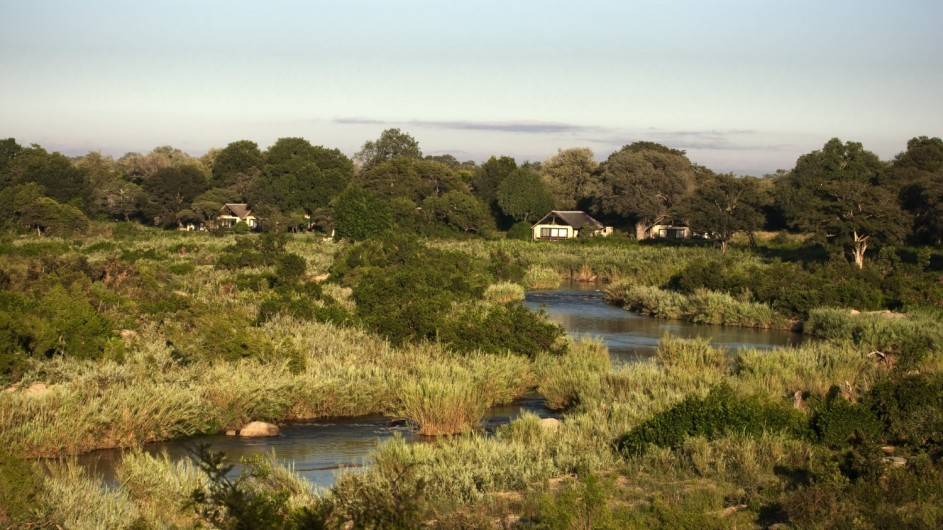 Südafrika Sabi Sand Game Reserve Lion Sands River Lodge am Sabie River