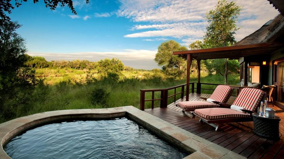 Südafrika Sabi Sand Game Reserve Lion Sands Tinga Lodge private Terrasse