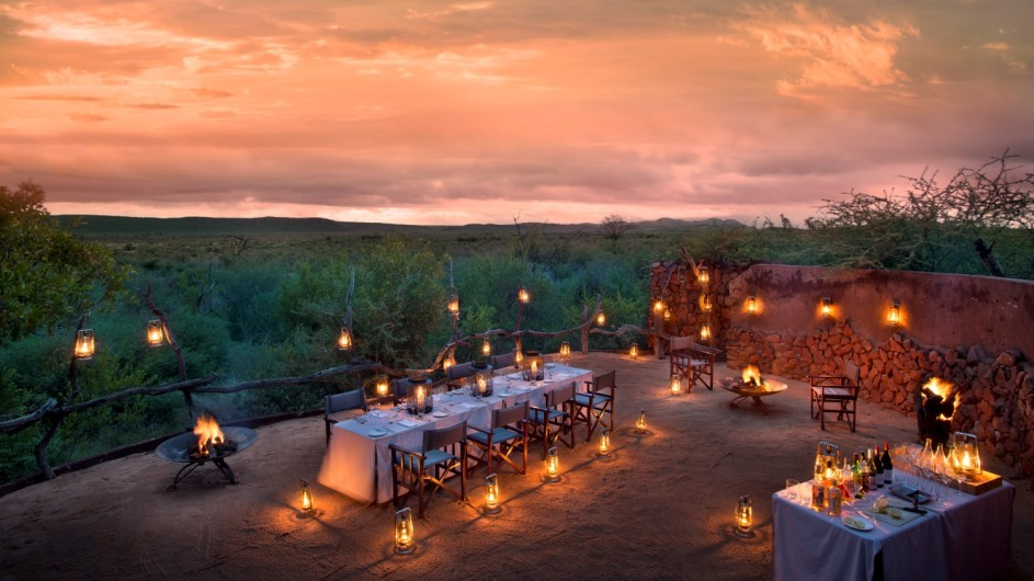 Südafrika Madikwe Safari Lodge Kopano Lodge Boma