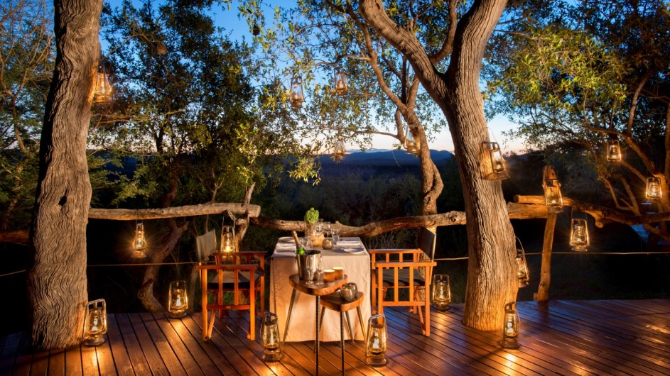 Südafrika Madikwe Safari Lodge Kopano Lodge Dinner
