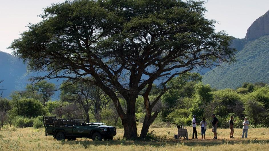 Südafrika Waterberge Marataba Safari Lodge Pirschfahrt Stopp